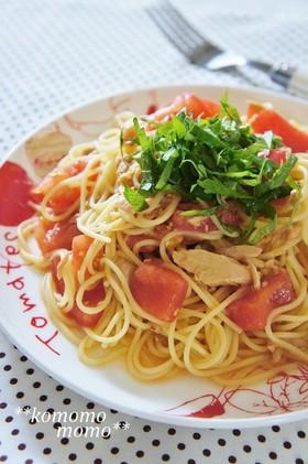 甘旨トマトとツナの冷製パスタ