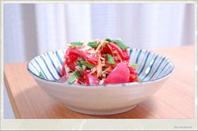 トマトとニラのナムル風サラダ