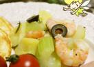 海老とセロリと新じゃがの彩りサラダ