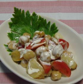 にんにくとひよこ豆のバジルサラダ