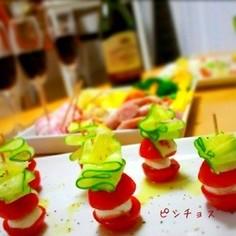 簡単★ミニトマトのお手軽カプレーゼ