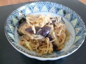 簡単すぎるナスと切干大根の麺つゆ蒸し煮
