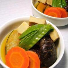 高野豆腐と椎茸の煮物