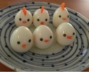 お弁当☆うずら卵でヒヨコとニワトリの写真