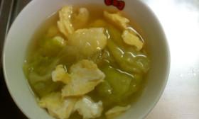 とっても簡単♪おいしいレタススープ♥