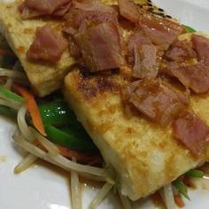 しょうがたれ☆豆腐ステーキ♪