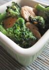 鶏のささみとブロッコリーのポン酢マヨ炒め