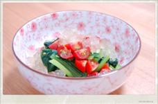 小松菜とミニトマトのジュレおひたし