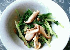 生姜みそレシピ⑥青菜ときのこの和えもの