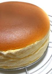 手軽に簡単。ある材料でスフレチーズケーキの写真