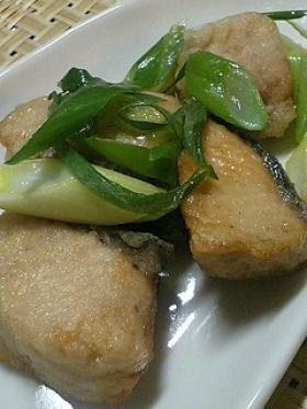 秋鮭とねぎ炒め