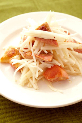 焼きハラスと大根のサラダ
