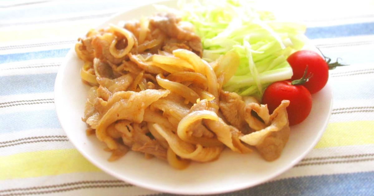 お弁当にも♪豚肉と玉葱のぽん酢生姜焼き by Marrietty