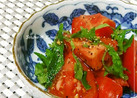 あと一品♠トマトと大葉のポン酢和え
