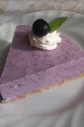 子供と作る♪ブルーベリーチーズケーキ