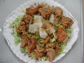 もちと鶏の中華風唐揚げ