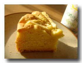 ノルマンディ風りんごのアーモンドケーキ
