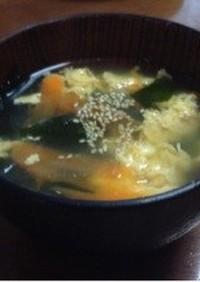 焼肉屋さんのワカメと卵のスープ