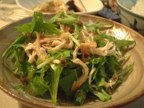 水菜とササミのさっぱりサラダ