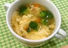 ブロッコリーとふんわり卵のスープ