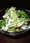 水菜ともずくのサラダ