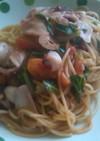 やりイカとトマトのスパゲッティ