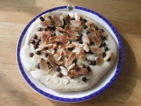 デザートピザ2種〜チョコ&アーモンド、アップル&クリームチーズ