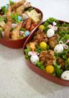 ☆唐揚げエビフライ運動会の可愛いお弁当♡