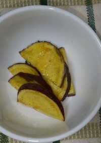 レンジでさつまいも煮シナモン風