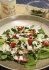 鶏ささみのお茶の葉サラダ