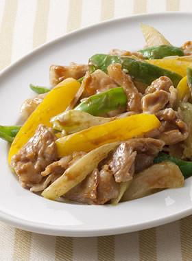 豚肉と夏野菜のオイスターマヨソテー