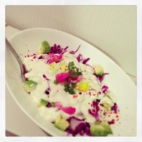 紫キャベツのお豆腐サラダ