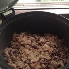 ガス炊飯器でつくる赤飯
