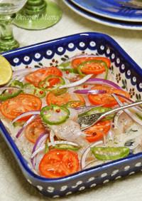 簡単!鯛のドレッシングサラダ