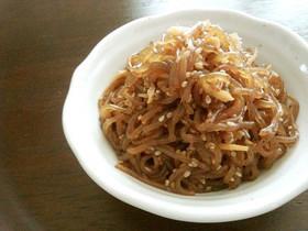 糸こんにゃくと生姜の炒り煮