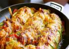 ズッキーニとアボカドのカレーソース焼き