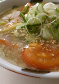 ササミとトマトの酸辣湯