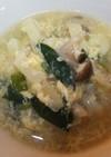 ニラとしめじの卵スープ