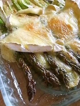 アスパラガスとカマンベールのオーブン焼き