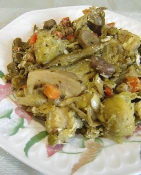 お鍋が一人で作ってくれる簡単冷凍ベジタブルミックス煮込み