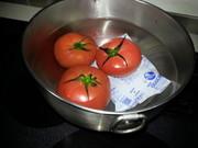 トマトの湯むきの仕方の写真