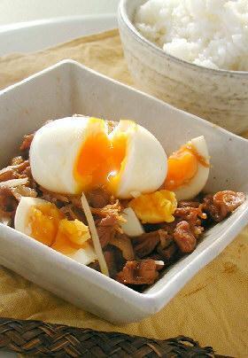 濃厚卵と豚ばらの生姜煮