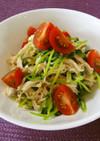 豆苗と鶏ささみサラダ