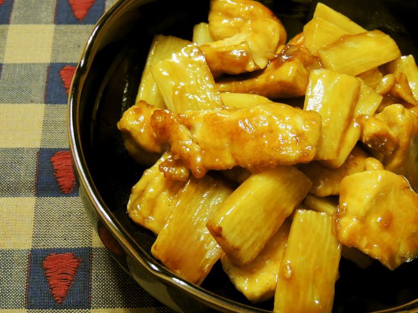 簡単☆鶏もも肉と長芋の甘辛炒め煮
