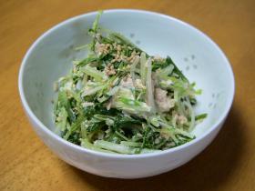 水菜とツナの簡単サラダ
