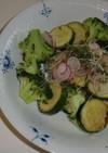 カジキと野菜 バルサミコソース