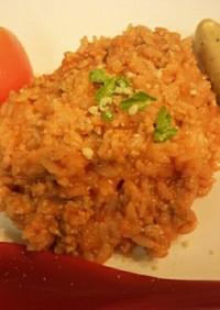 トマトの超簡単チーズリゾット風