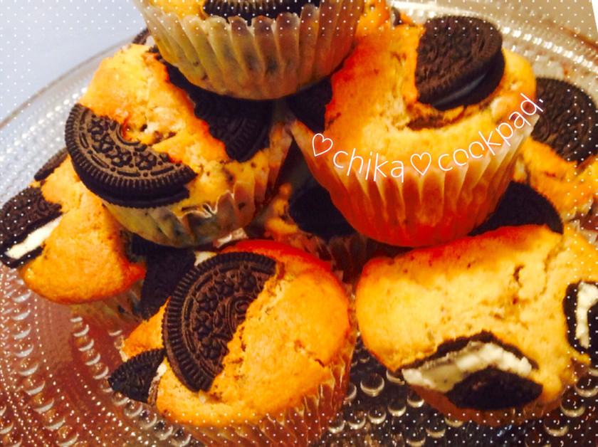 オレオで秘密のクッキー&クリームマフィン