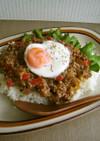 ピリ辛*ひき肉と野菜の中華あんかけごはん