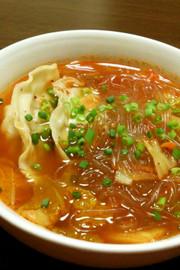 まな板包丁いらず!!餃子春雨スープ♡の写真